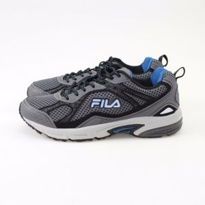 FILA Windshift 15 Grey & Blue Running Shoes 10 NWT